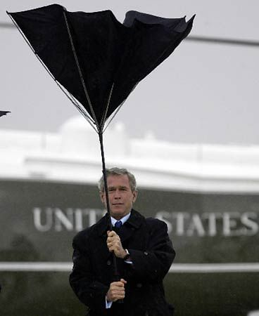George W Bush Not Qualified To Use An Umbrella